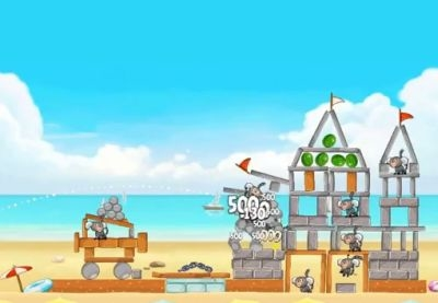 Angry Birds Rio Beach Volley 3-star walkthroughs