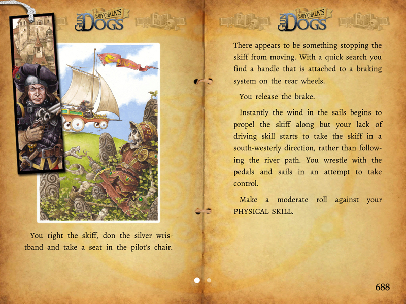 Gold Award-winning gamebook adventure Gary Chalk's Gun Dogs is on sale on iOS and Android for £1.49/$1.99