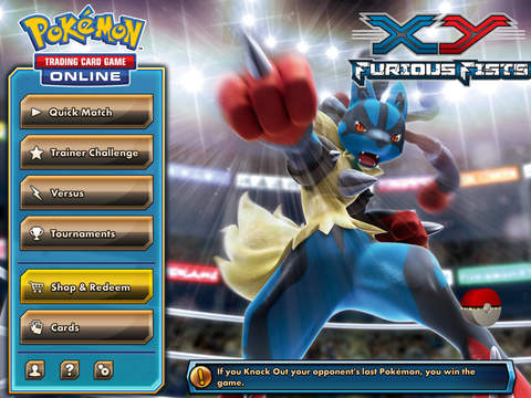Pokémon TCG Online, the pocket monster based digital card-collecting game, is now available for iPad worldwide