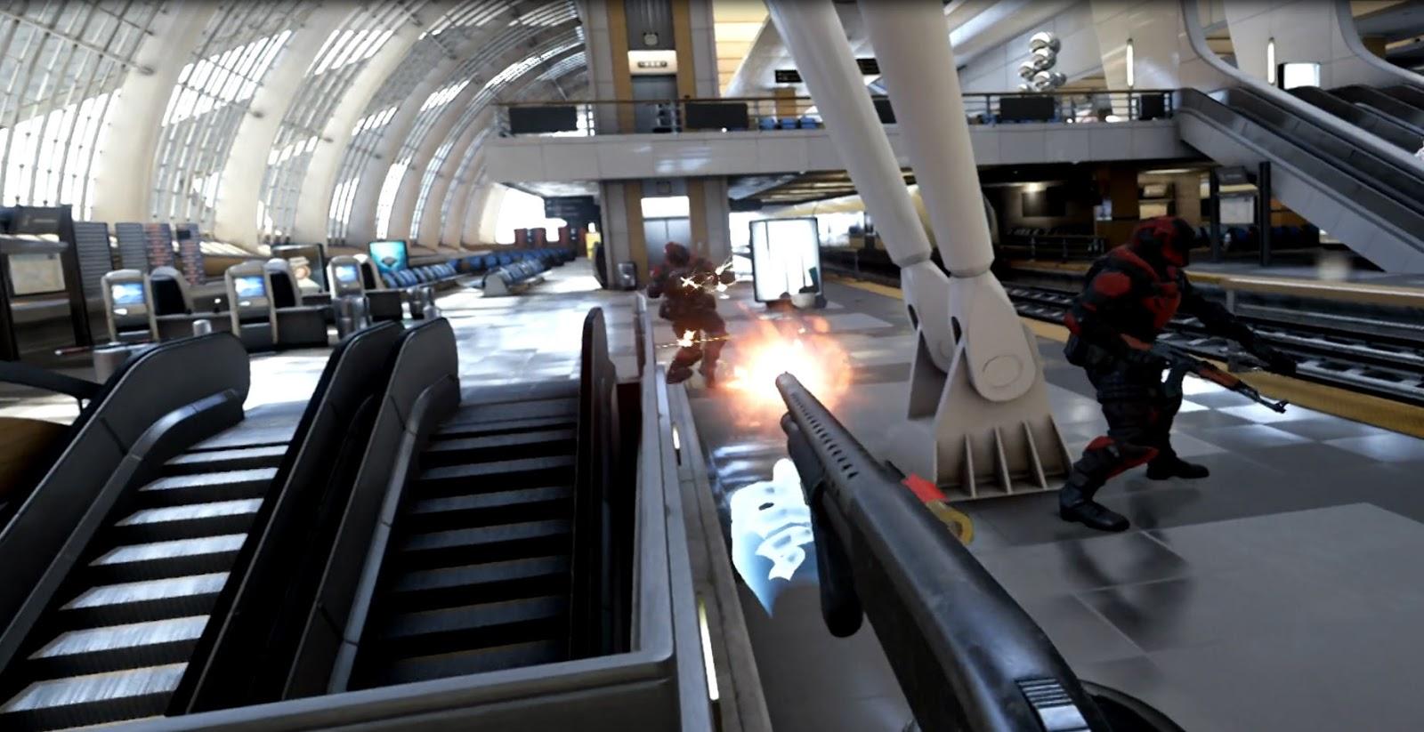 All Aboard The Bullet Train - Epic's VR shoot-em-up