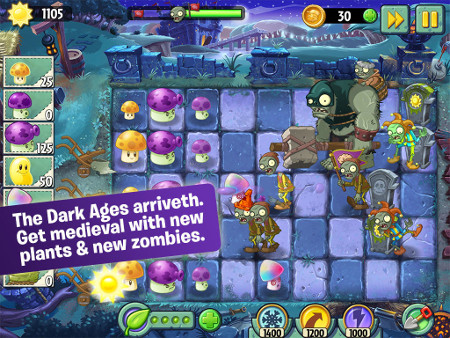 Plants vs Zombies 2 has been updated with some medieval new content on iOS and Android