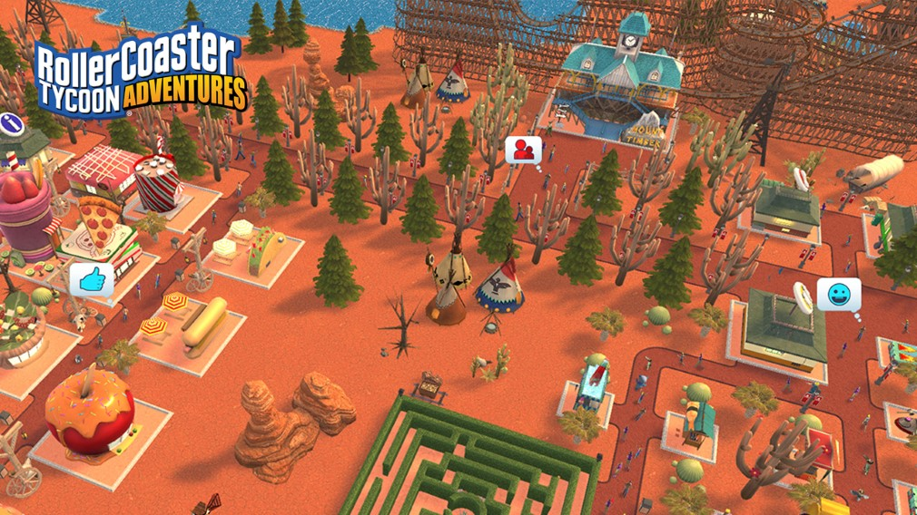 "RollerCoaster Tycoon Adventures Switch review - ""Has its ups and downs"""