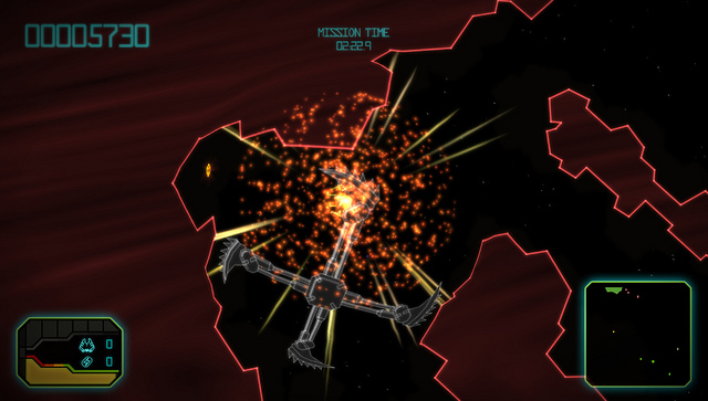 Gravity Crash Ultra is an upgraded edition of the PSP's neon retro-arcade shooter, and it's coming in July