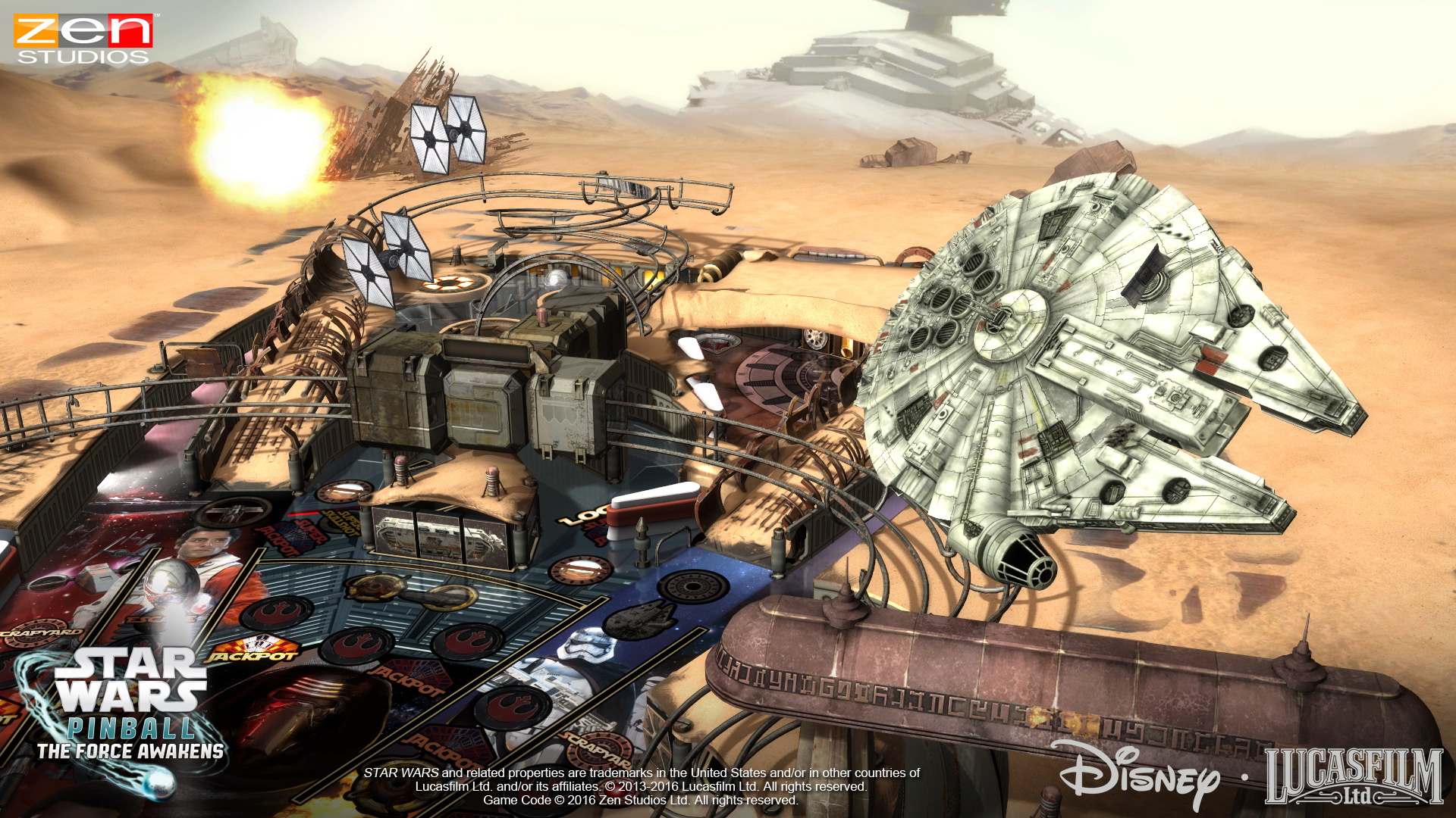 Stop the First Order or crush the Resistance on SHIELD in Zen Pinball's new Star Wars: The Force Awakens tables