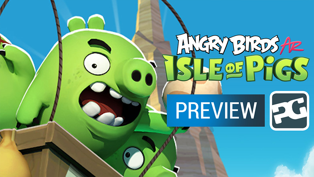 "Angry Birds AR: Isle of Pigs video preview - ""Pigs in your living room"""