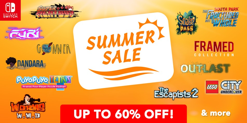 Grab some hot discounts on South Park, Outlast, and more in the UK Switch summer sale