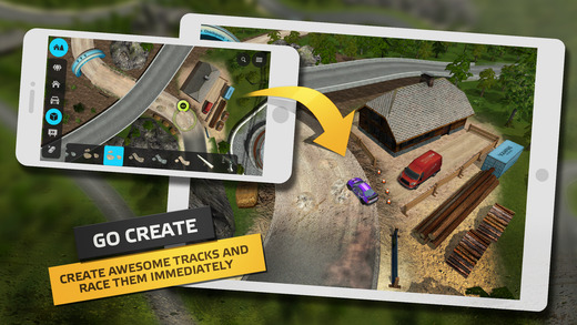 Go Rally is a track-building skid mark-making racer that's out now on iOS