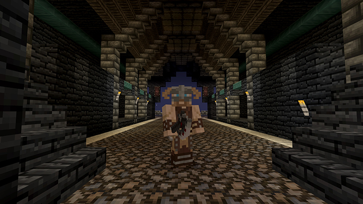 The Skyrim mash-up pack finally comes to Minecraft: Pocket Edition