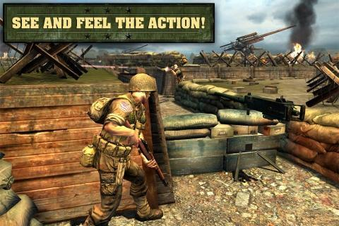 Storm the Normandy beaches in Glu's freemium shooter Frontline Commando: D-Day