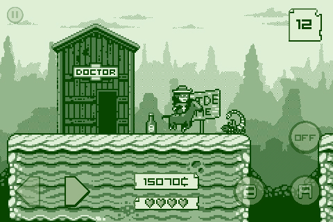 2-bit Cowboy is an imminent iOS game that wishes it were a Game Boy game