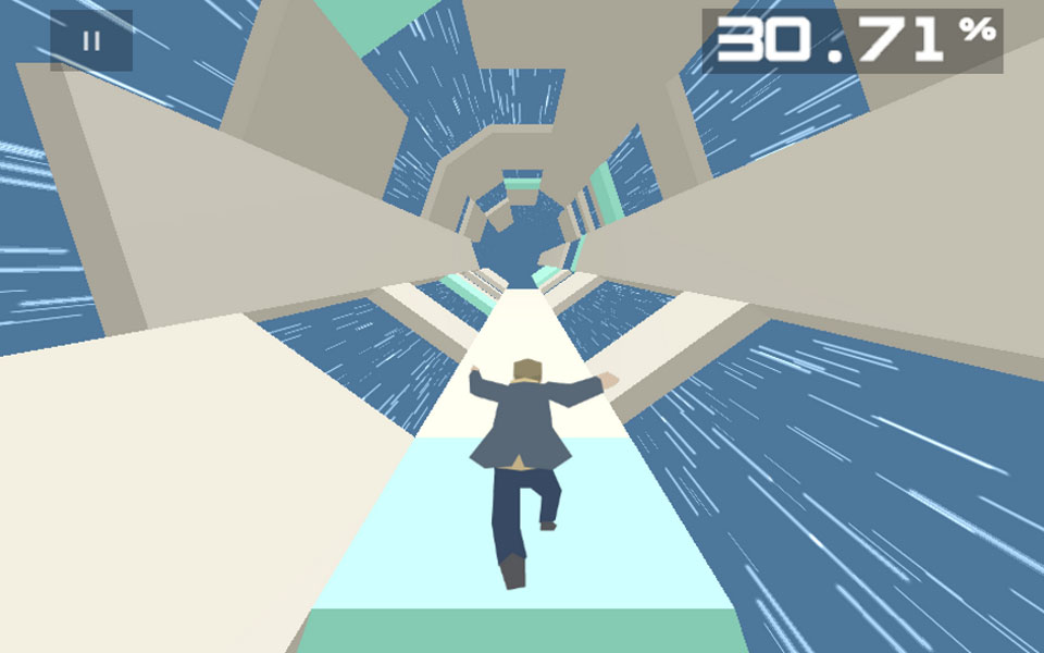 Rotational runner Boson X updated with six new levels and a fast-running robot