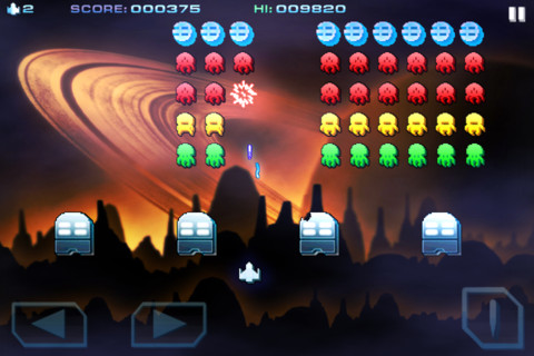 Free iPhone and iPad games: Space Inversion, Space Inversion 2, Space Inversion Puzzle, Retro Dust