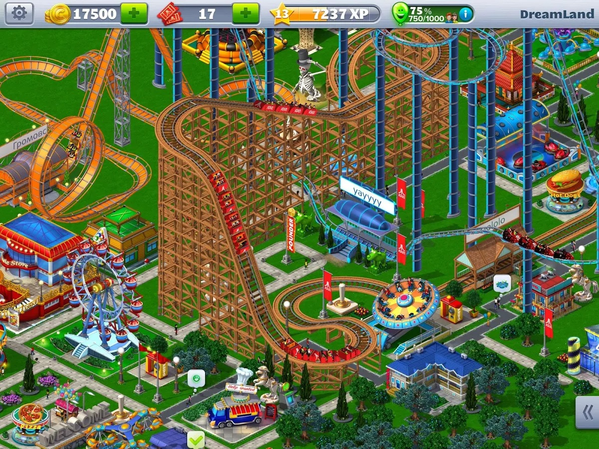 Free to play theme park sim Rollercoaster Tycoon 4 launches on Android