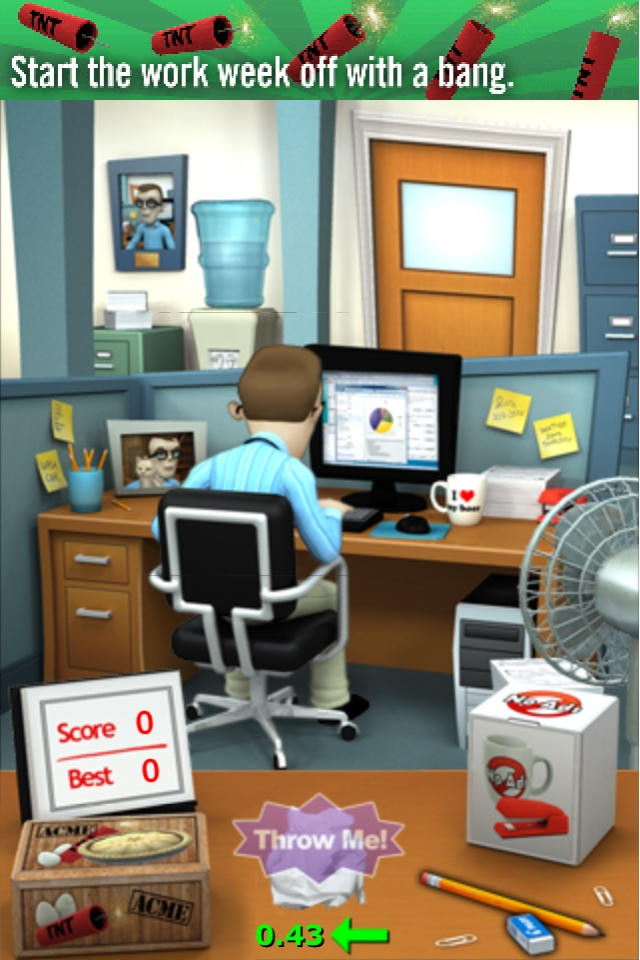 Paper Toss-alike Office Jerk set for abuse on Android this week