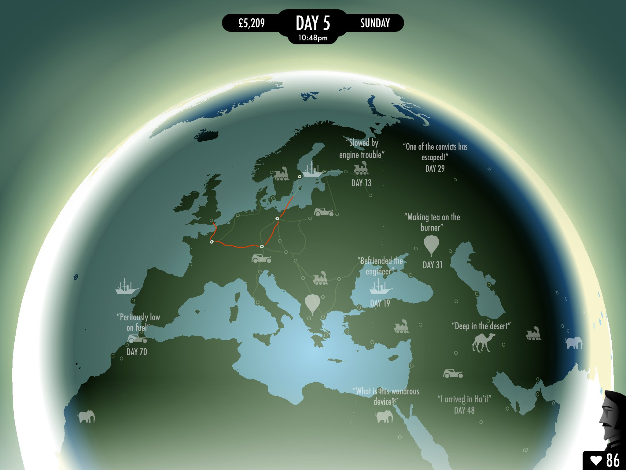 80 Days, inkle's brilliant steampunk gamebook version of Jules Verne's classic tale, is available right now on Android