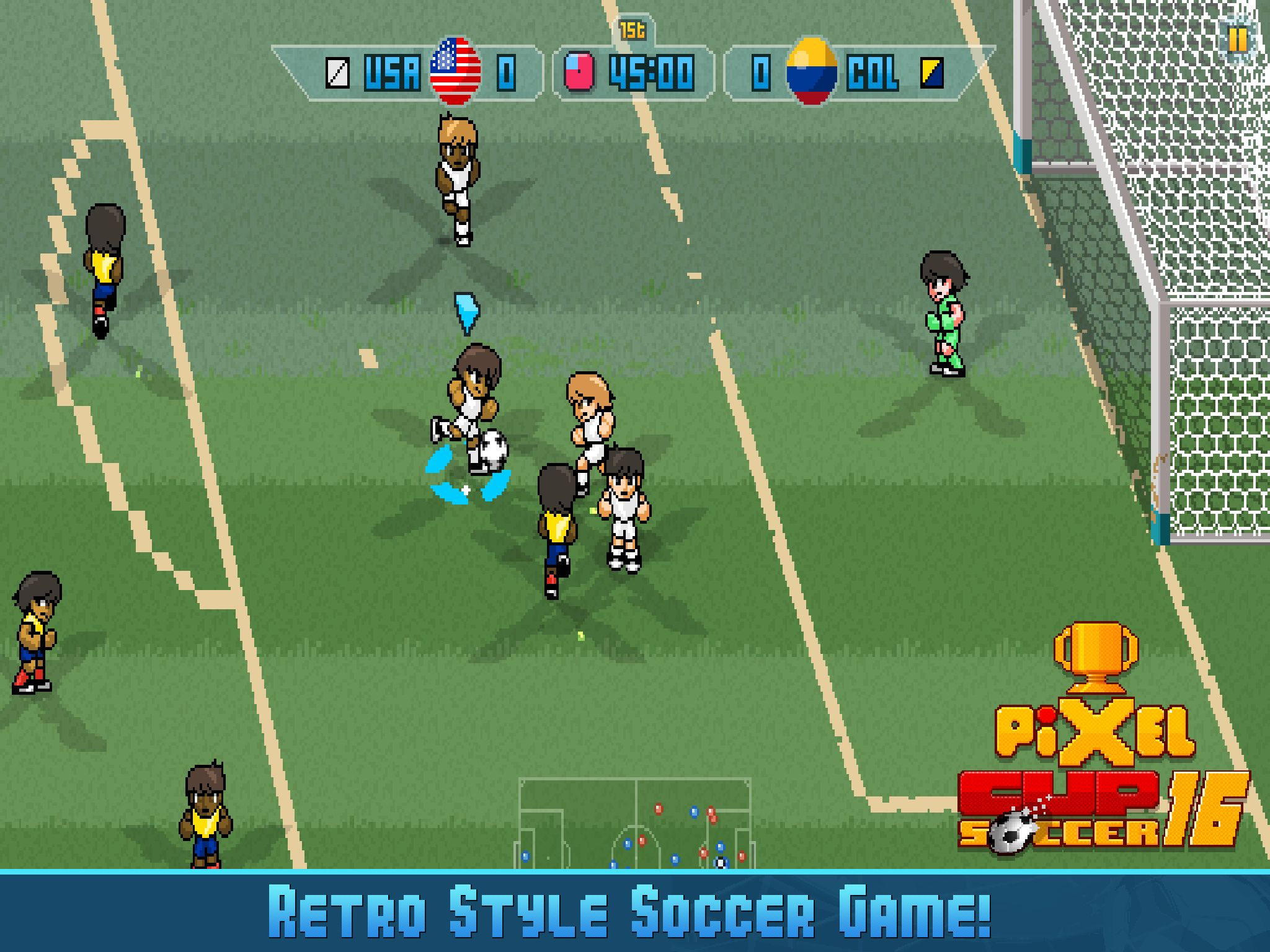 You'll have to wait a little longer for Pixel Cup Soccer 16 on Android