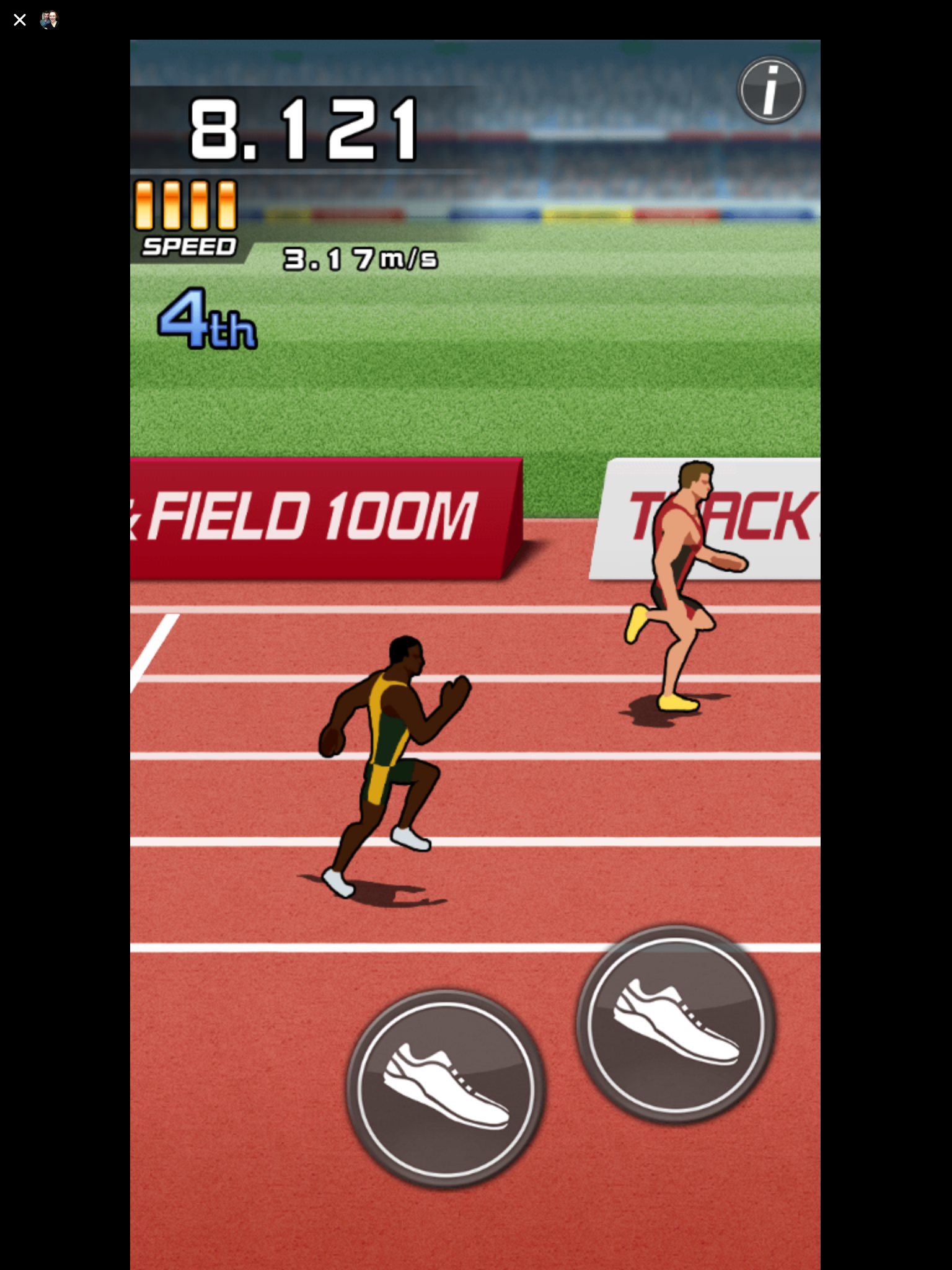 Track and Field 100M Facebook Messenger review