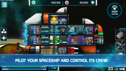 Command your galactic vessel in sci-fi strategy game Panthera Frontier, available now on iOS