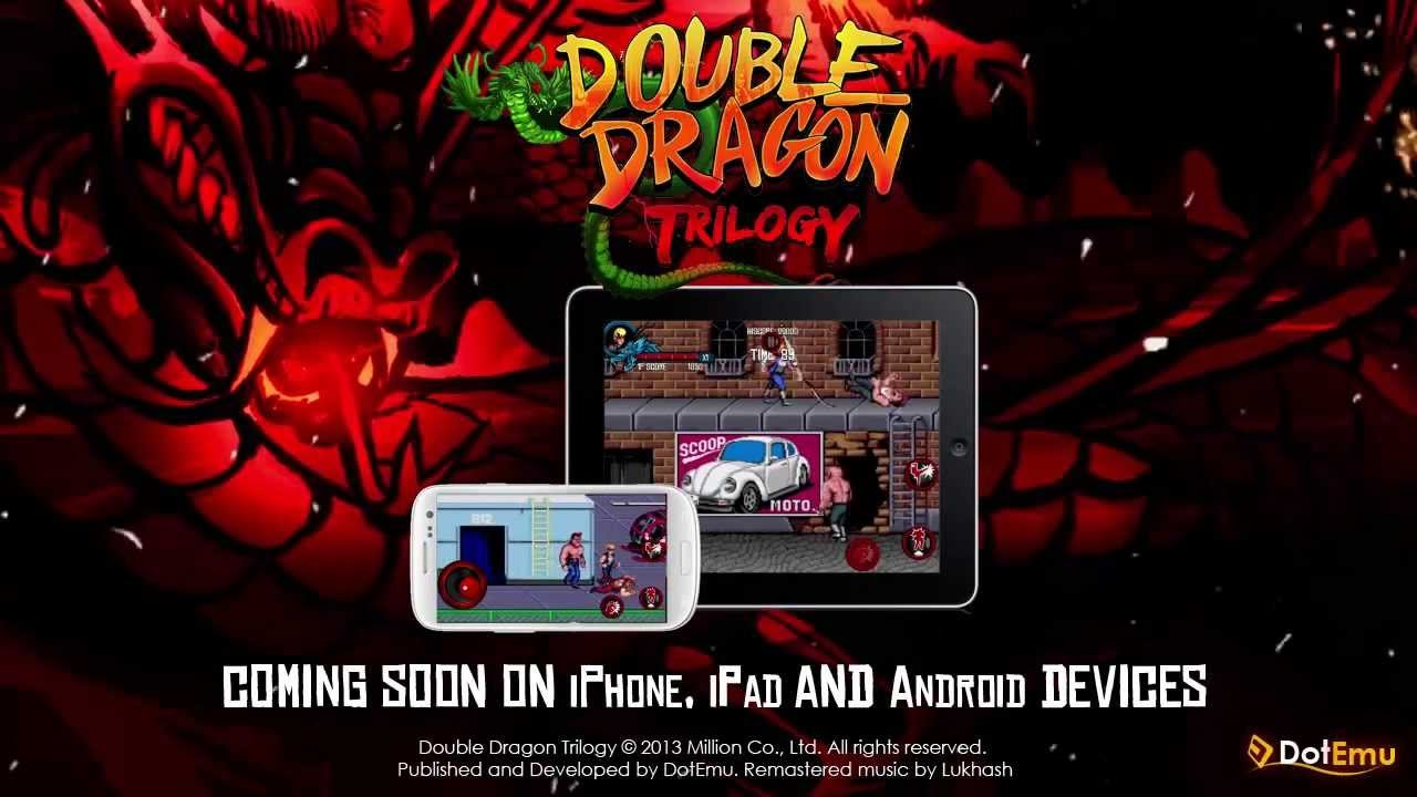 Classic side-scrolling beat-'em-up trinity Double Dragon Trilogy will be available on iOS and Android by the end of the year