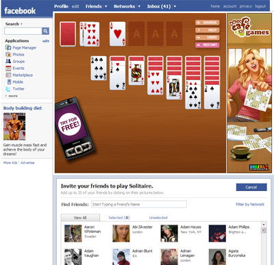 Cafe Solitaire hits Facebook