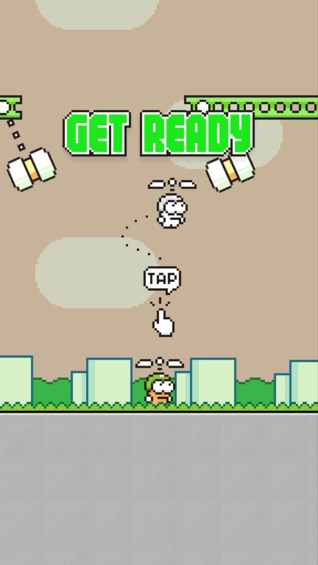 Swing Copters isn't quite as hard now with its latest update