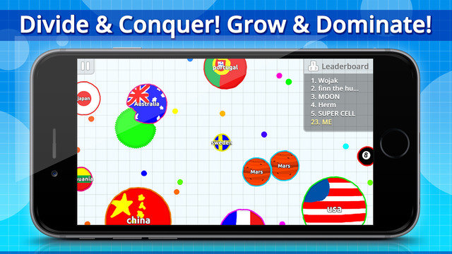 Ludicrously popular browser game Agar.io is now available on iOS and Android
