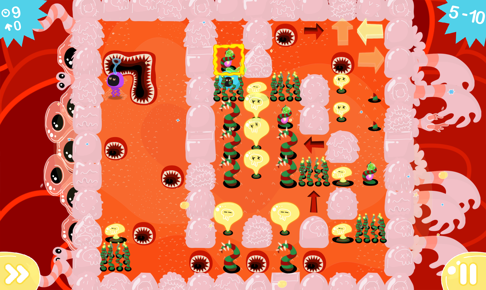 Lemmings gets weird in colorful and slimy puzzler Idioctopus