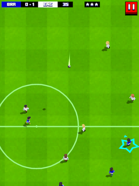 Retro Soccer - A swipey tappy football game that plays with a smile