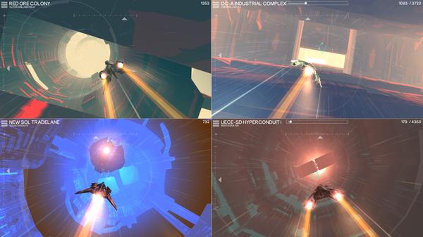 Hyperburner is a fast-paced arcade flier through a colonized solar system