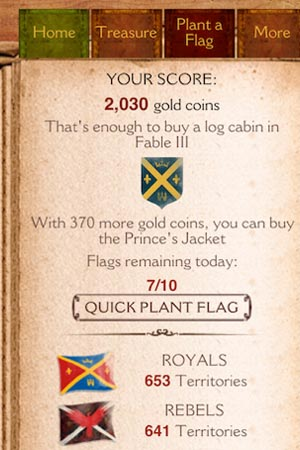Microsoft launches free Foursquare like location game Fable III Kingmaker for Android and iOS