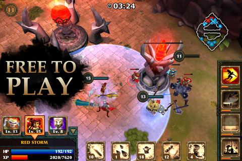Freemium real-time strategy title Legendary Heroes now available for iPhone and iPad