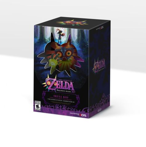 Limited Edition of The Legend of Zelda: Majora's Mask 3D comes with a Skull Kid figurine in the US