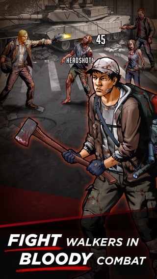 The Walking Dead: Road to Survival challenges you to survive the perils of the graphic novels