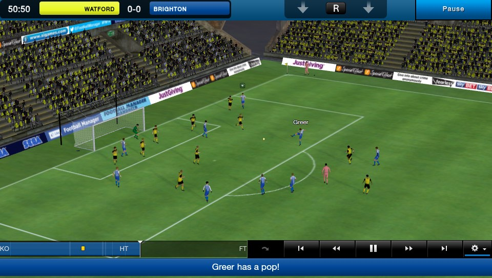 Football Manager Classic 2014 is blowing the whistle on Vita on April 11th