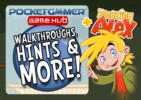 Pocket Gamer Hub featured in Amazing Alex app