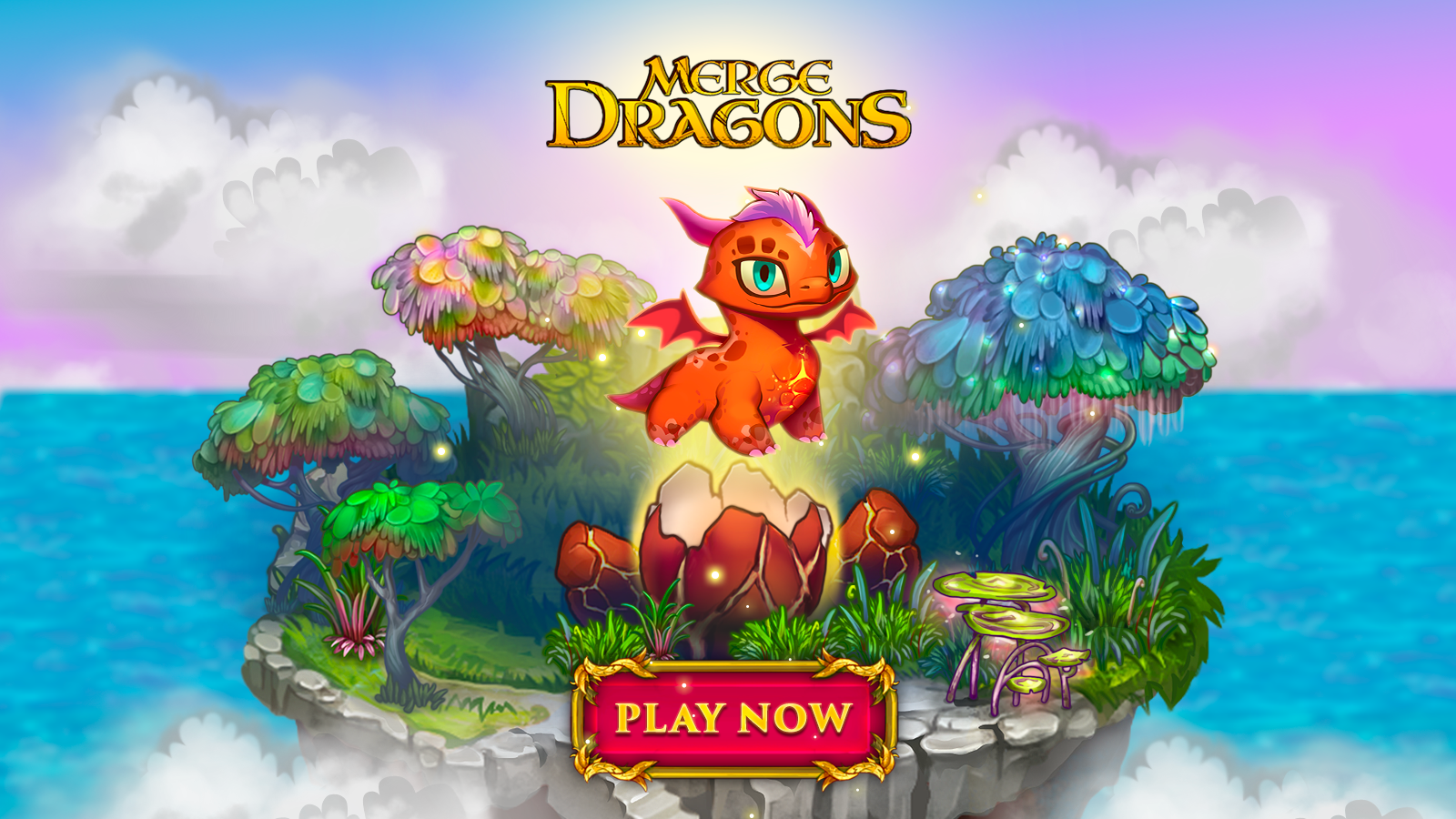 Hatch dragons eggs to heal the land in the pretty puzzler Merge Dragons! out now on iOS