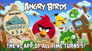 Angry Birds has been updated with 30 fan-inspired levels to celebrate its 5th birthday