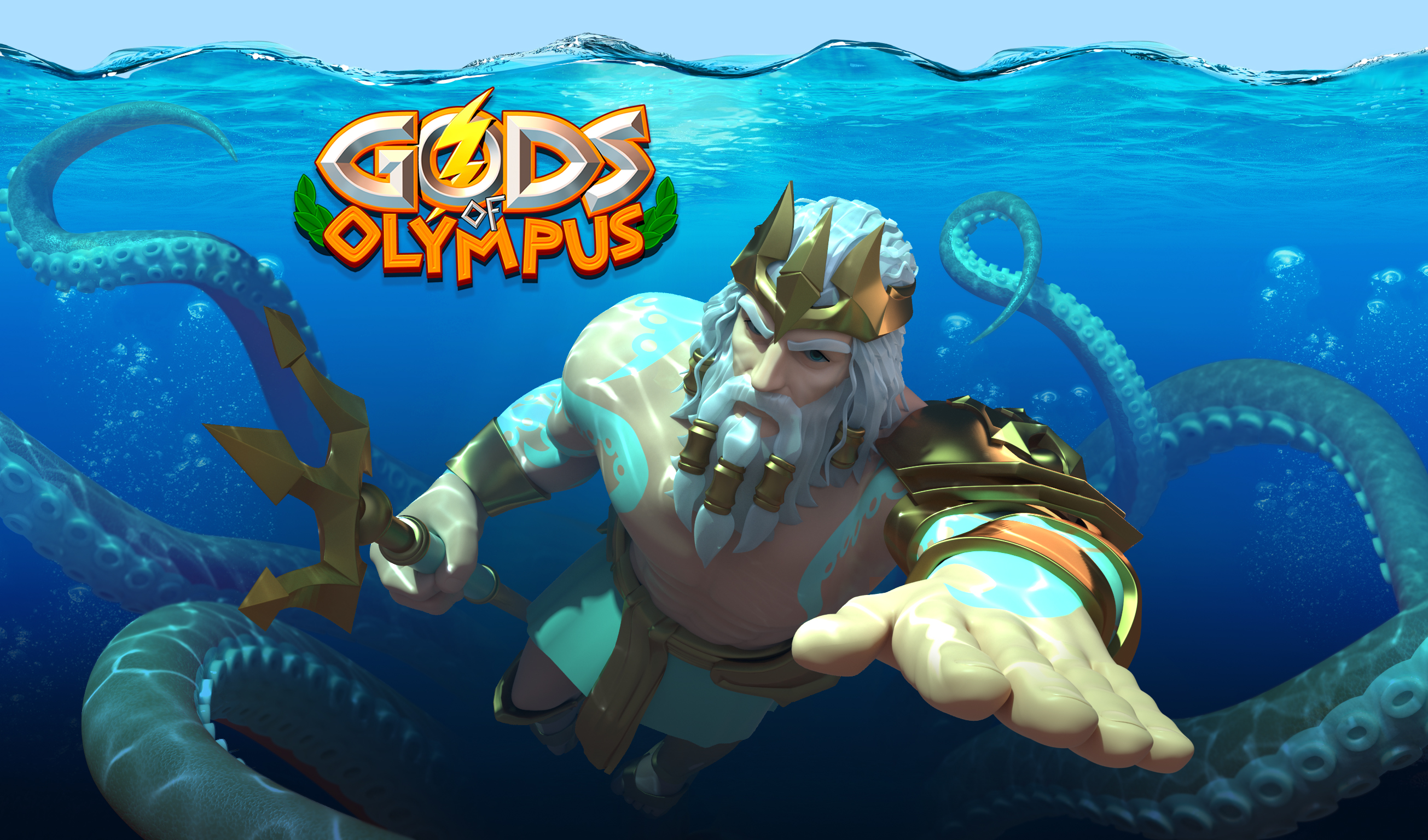 Meet Poseidon, the biggest addition in the Gods of Olympus October update