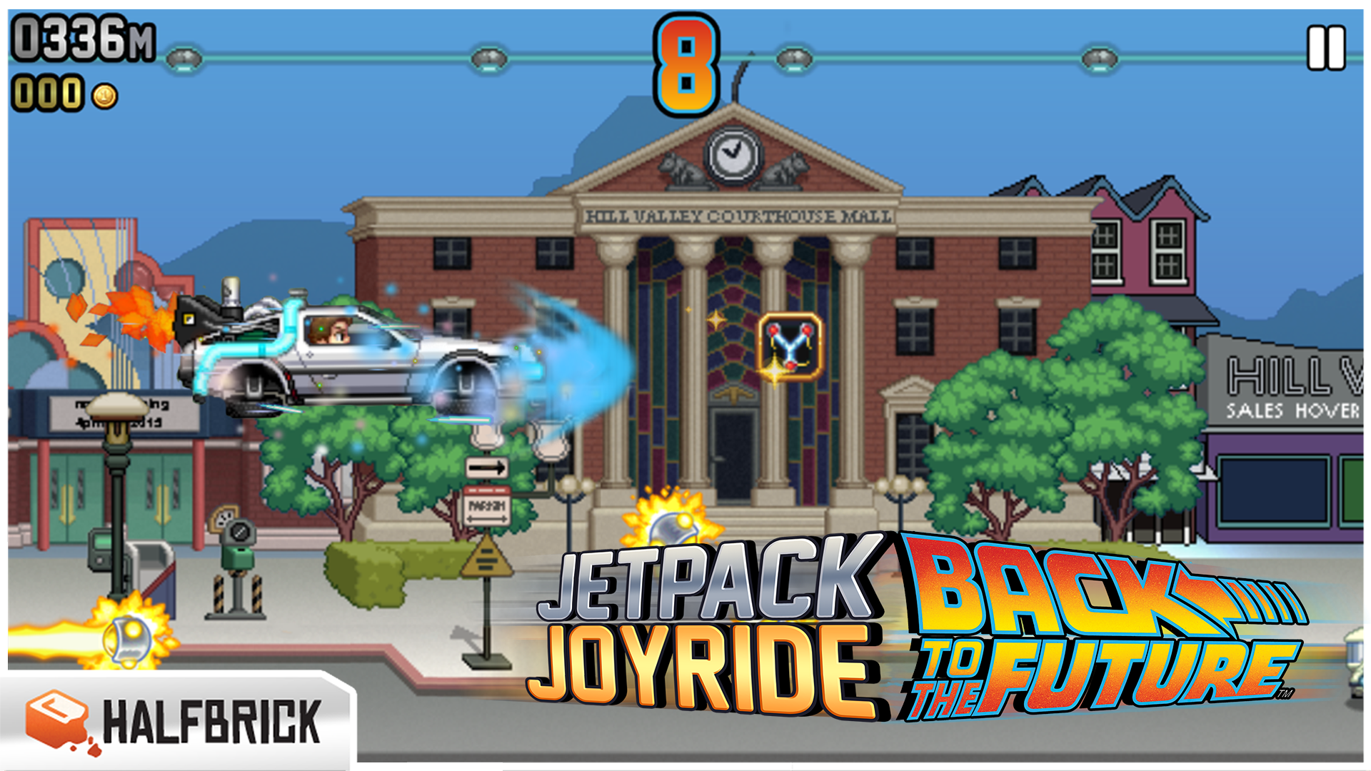 Jetpack Joyride hits 88 miles per hour with a Back to the Future-themed update