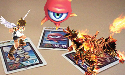 6 Kid Icarus: Uprising AR battle cards to be bundled in with copies