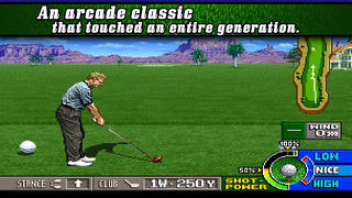 Practice your backswing in classic golf game Neo Turf Masters, available now on iOS and Android