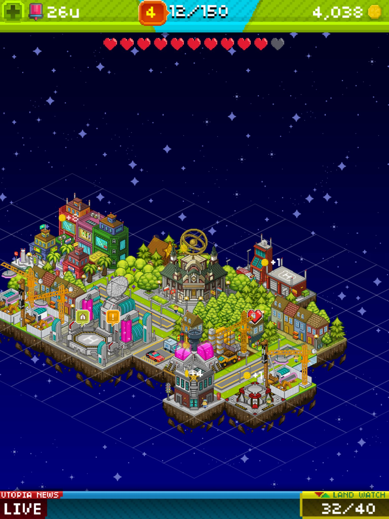 LambdaMu Games updates Pixel People with new theme parks, jobs, and Valentine's Day romance