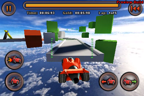 Jet Car Stunts updated with iPhone 4 retina display graphics