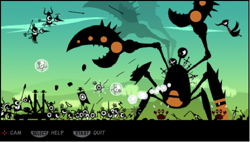 First official images and details of Patapon on PSP