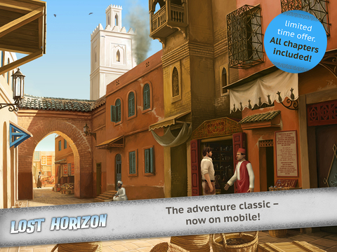 PC point and click Lost Horizon is racing Nazis to Tibet, on iPhone and iPad right now