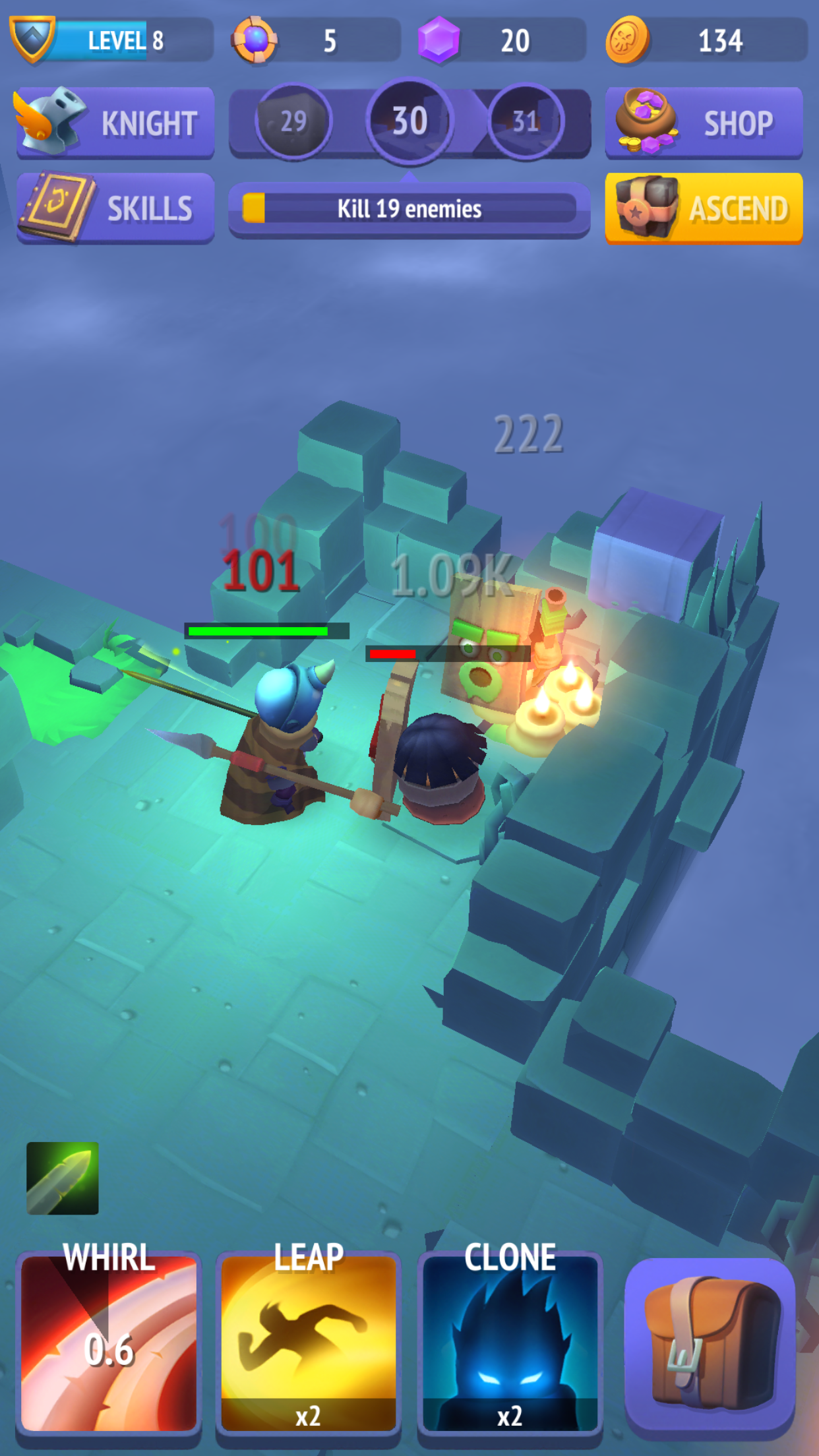 How does Nonstop Knight compare to Dungeon Hunter 5, Loot and Legends, and more?