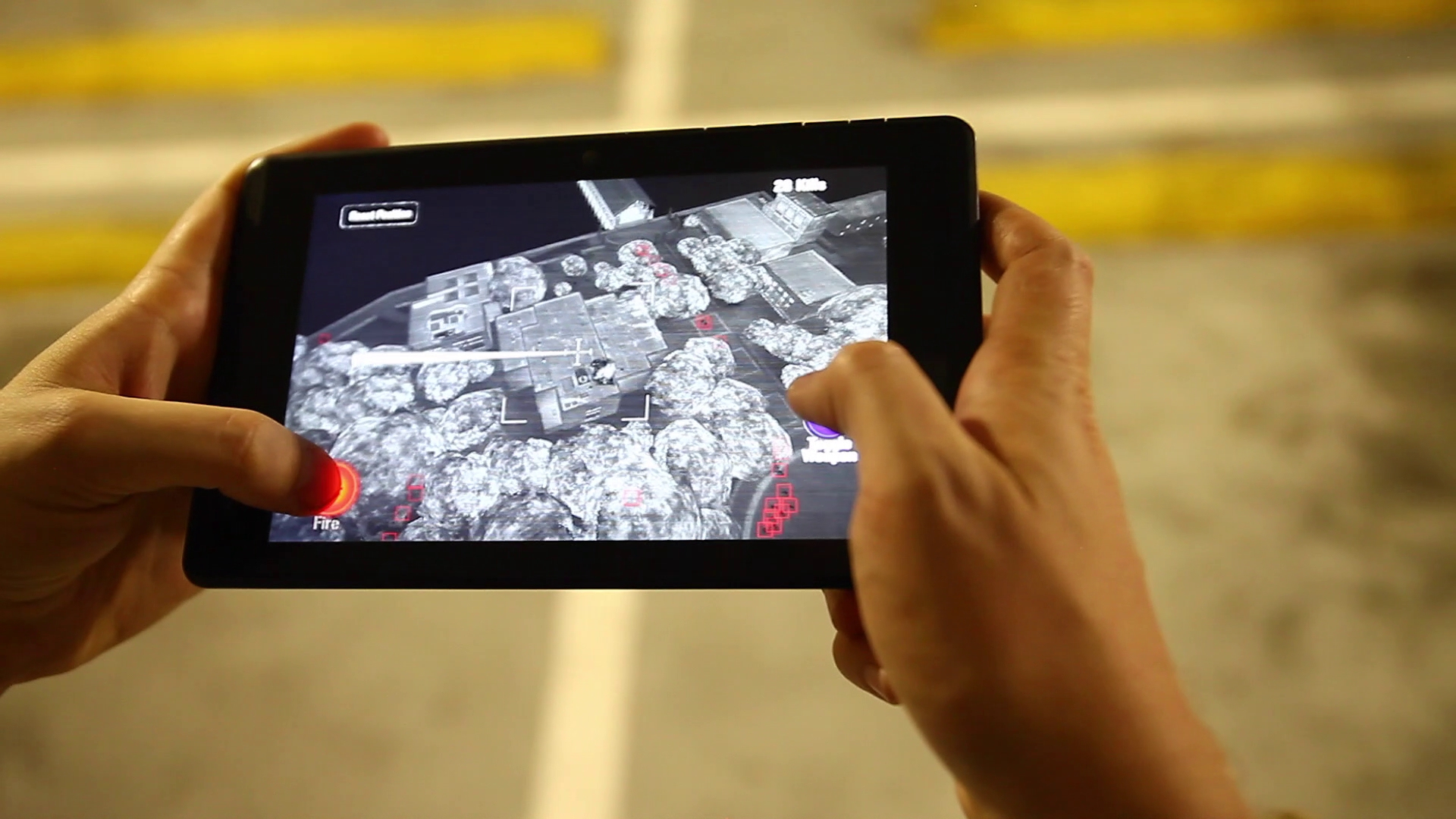 Zombie Gunship Reality uses Google's Project Tango to map all your 3D movements to a gunship