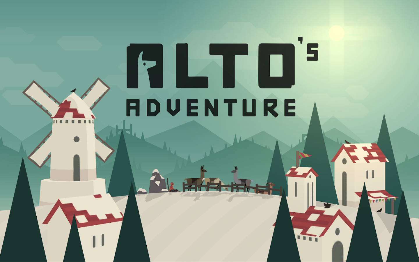 The snowboarding, llama-chasing Alto's Adventure is currently on sale on iOS