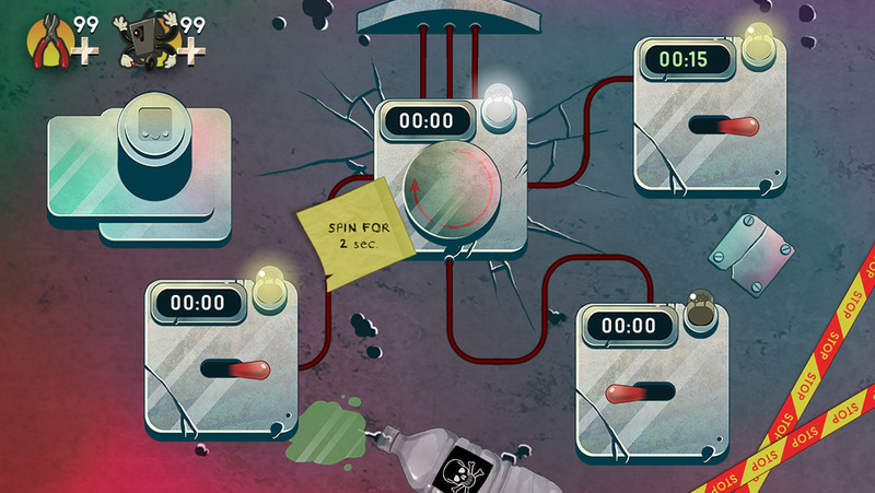 Wire Defuser challenges you to defuse an Earth-destroying bomb in mere seconds