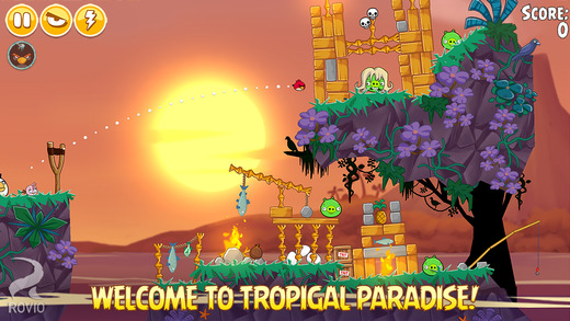 Angry Birds Seasons gets another 26 levels in the new Tropigal Paradise episode